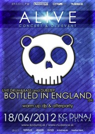 BOTTLED IN ENGLAND live dnb&dubstep koncert v KC Dunaj