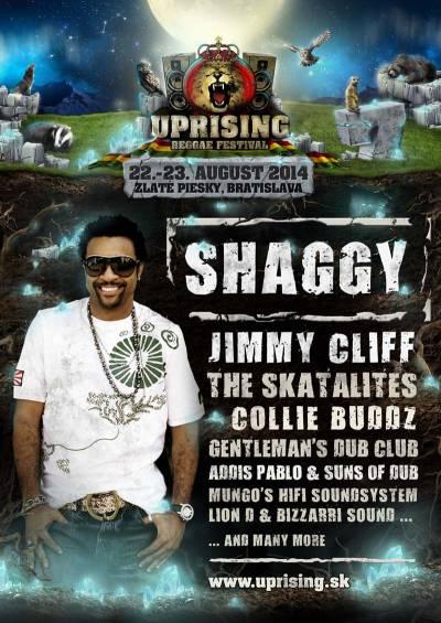 Headlinerom festivalu Uprising bude Shaggy
