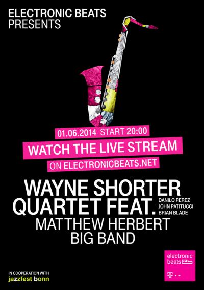 Electronic Beats prináša exkluzívny streaming vystúpení velikánov džezu: Wayne Shortera a Matthewa Herberta