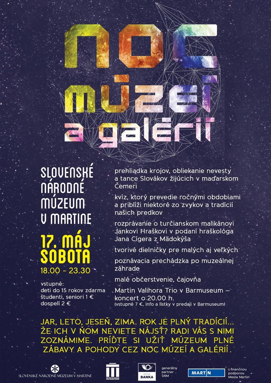 Noc múzeí agalérií vmartinskom múzeu