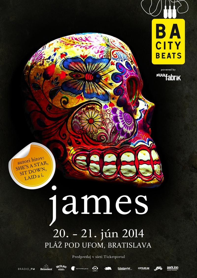 V Bratislave zaznie megahit Sit Down, kapela James vystúpi na festivale BA City Beats