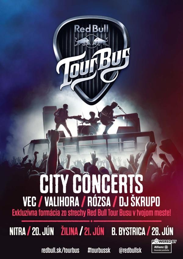 Máme všetko a štartujeme na Red Bull Tour Bus City Concerts