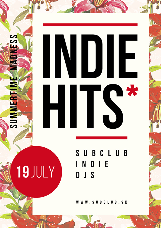 Indie Hits v sobotu 19.7.