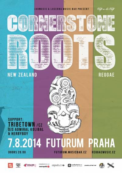 Novozélandská reggae kapela Cornerstone Roots vystoupí 7. srpna poprvé vPraze
