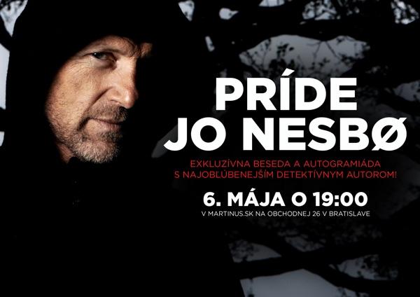 Svetoznámy autor Jo Nesbø sa predstaví v kníhkupectve Martinus.sk  na jedinej slovenskej besede