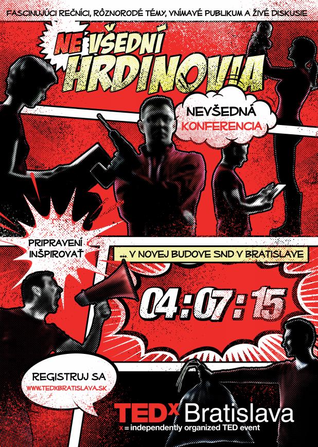 TEDxBratislava 2015 predstaví (ne)všedných hrdinov