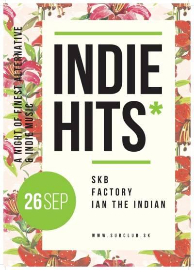 INDIE HITS vsobotu 26.9.