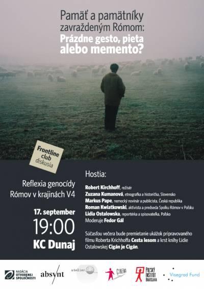 PAMÄŤ A PAMÄTNÍKY zavraždeným Rómom: prázdne gesto, pieta alebo memento?