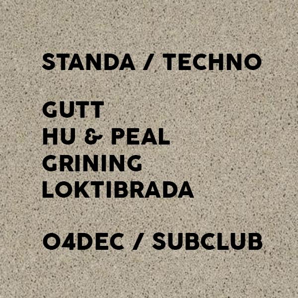 STANDA v piatok 4.12. @ Subclub