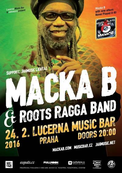 Reggae veterán Macka B přiveze 24. února novou desku