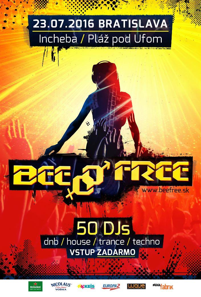 Festival BeeFree bude 23. júla v Inchebe,  na 18. ročník sa vráti trance