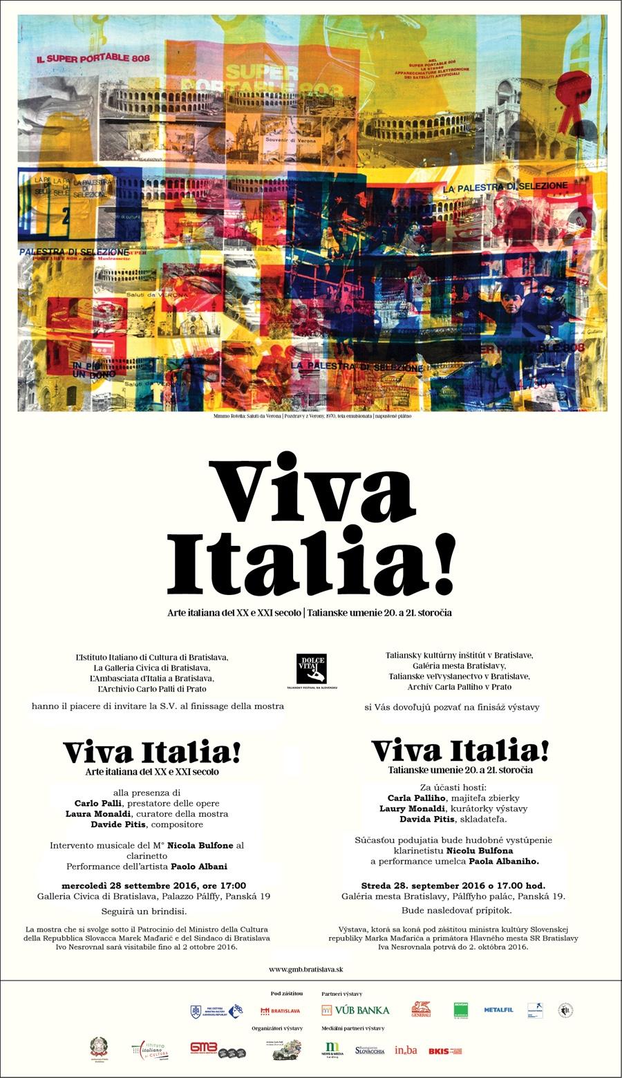 Jedinečnú výstavu Viva Italia! uzavrie finisáž stalianskymi umelcami