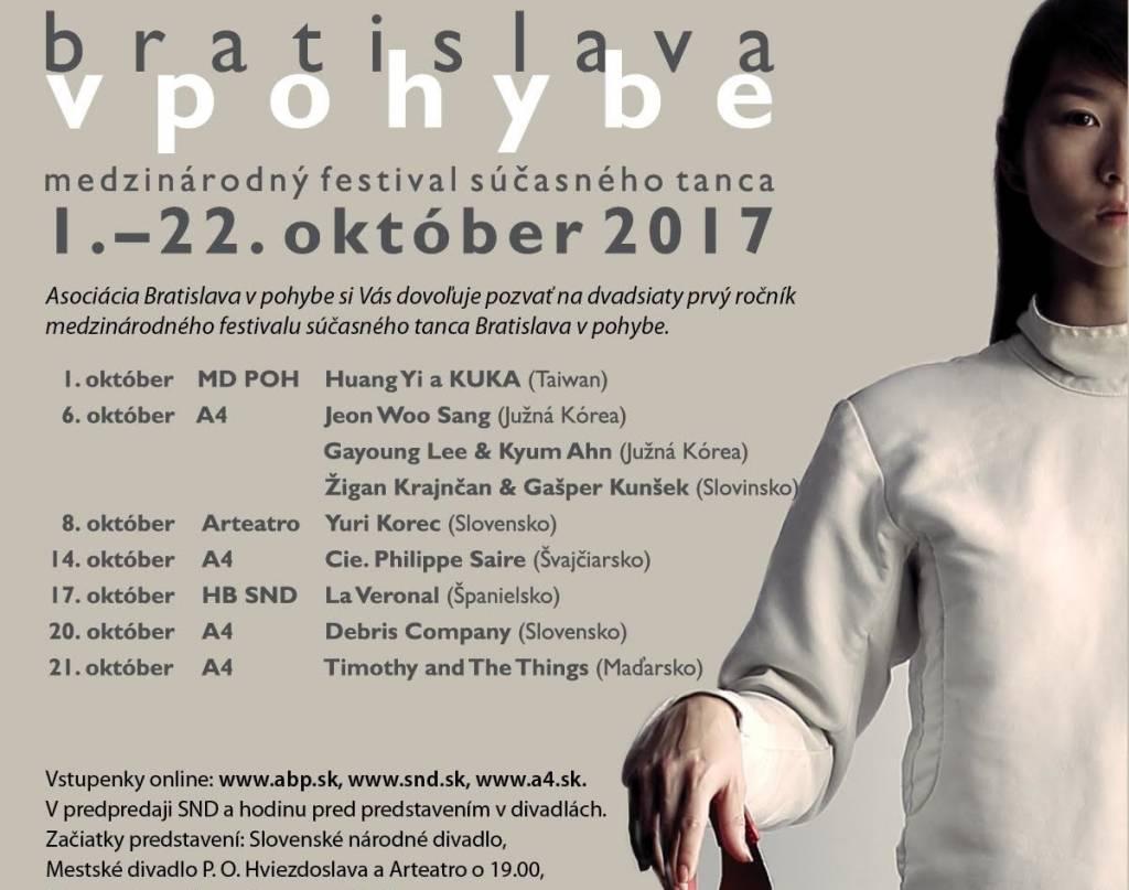 Medzinárodný festival súčasného tanca Bratislava vpohybe  po prvýkrát predstaví robota