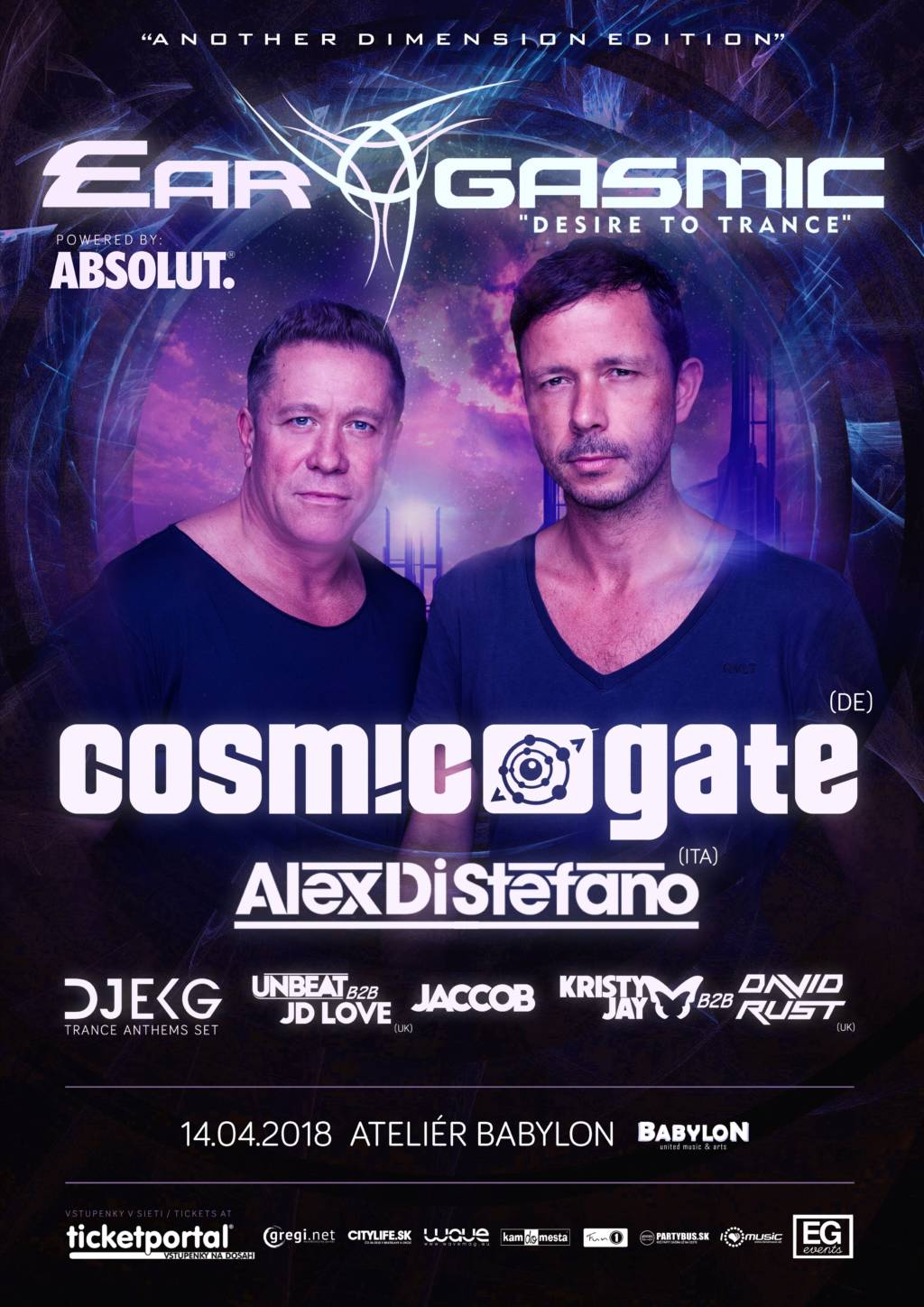 "Ear-Gasmic ""Another Dimension Edition"" prináša COSMIC GATE"