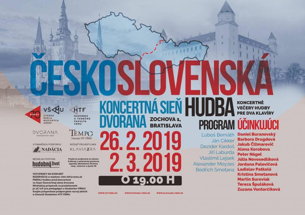 Česko-slovenská hudba – koncertné večery pre dva klavíry